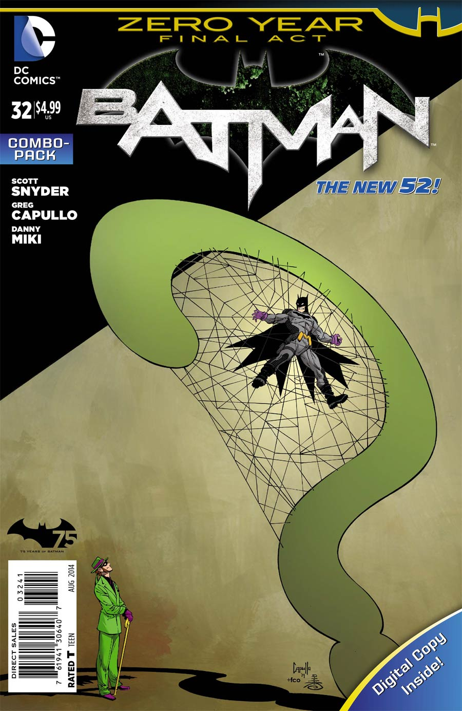 Batman Vol 2 #32 Cover C Combo Pack With Polybag (Zero Year Tie-In)