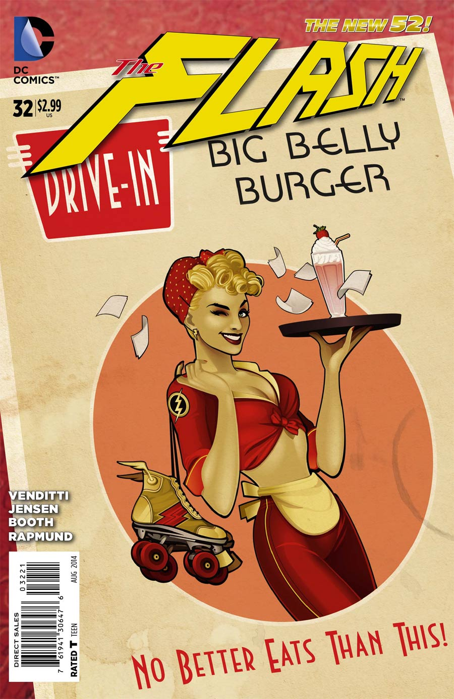 Flash Vol 4 #32 Cover B Variant DC Bombshells Cover