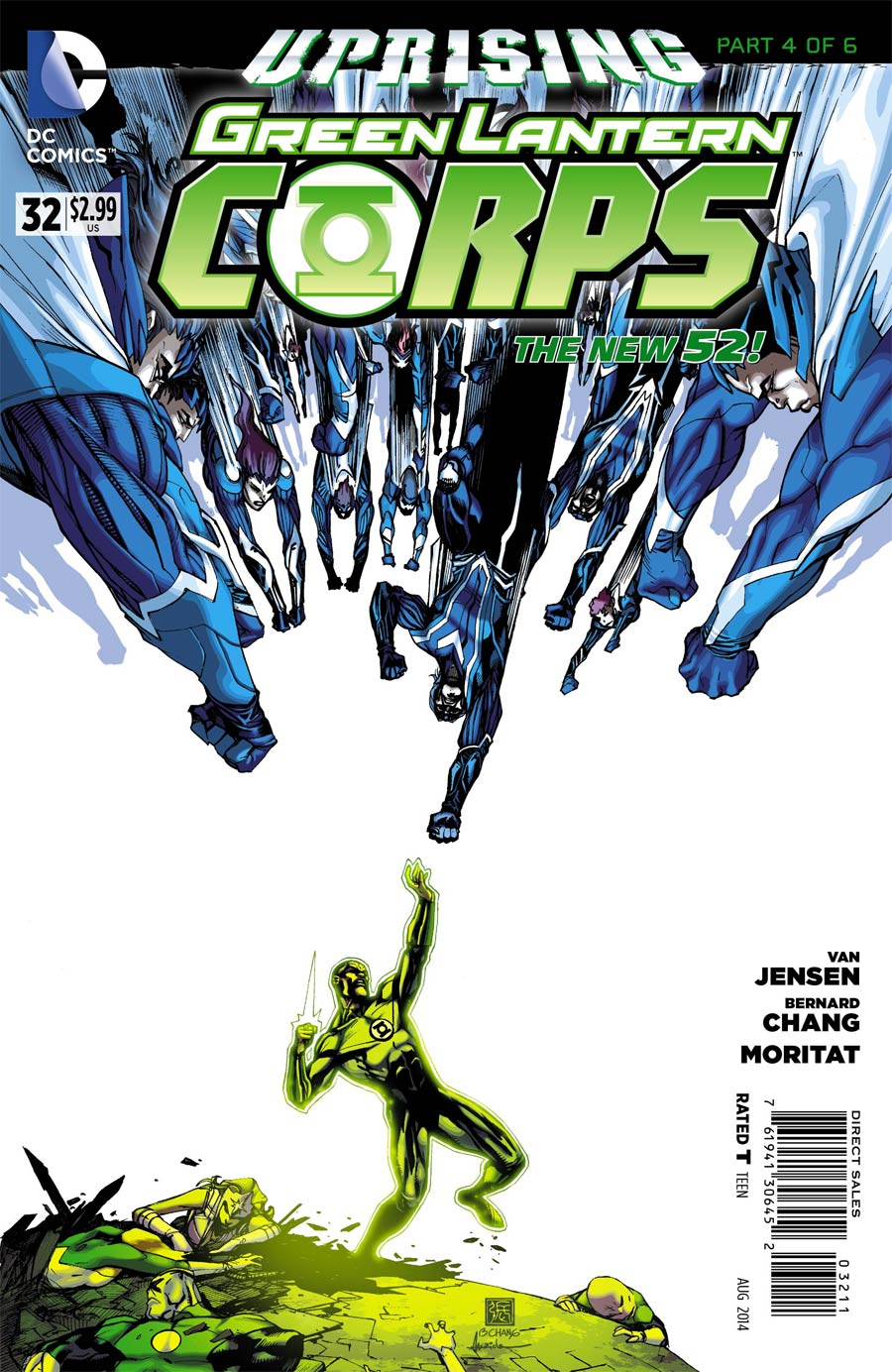 Green Lantern Corps Vol 3 #32 Cover A Regular Bernard Chang Cover (Uprising Part 4)
