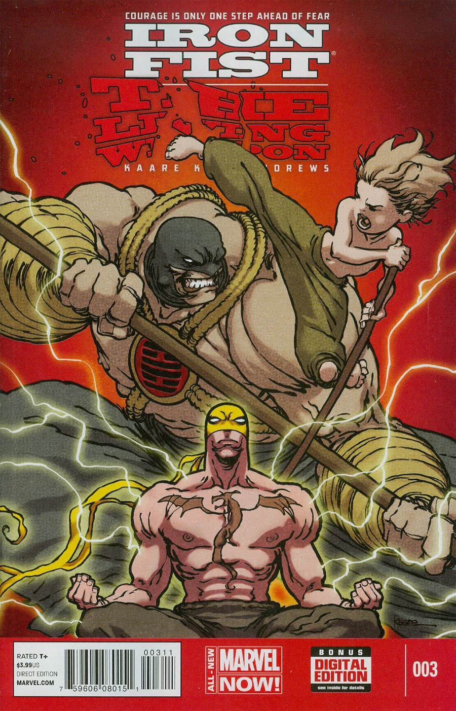 Iron Fist Living Weapon #3 Cover A Regular Kaare Andrews Cover