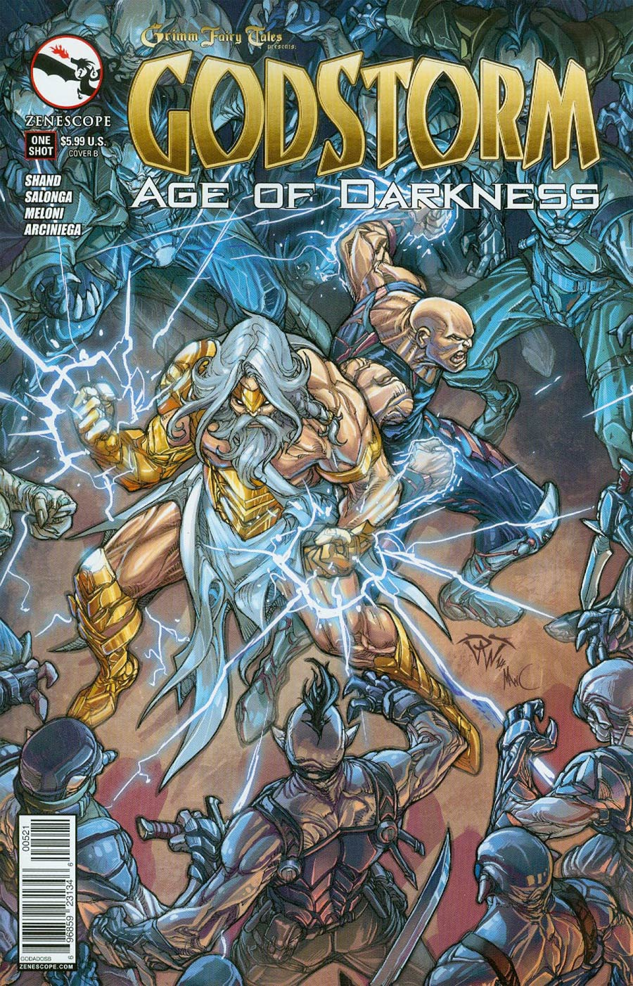 Grimm Fairy Tales Presents Godstorm Age Of Darkness One Shot Cover B Paolo Pantalena (Age Of Darkness Tie-In)