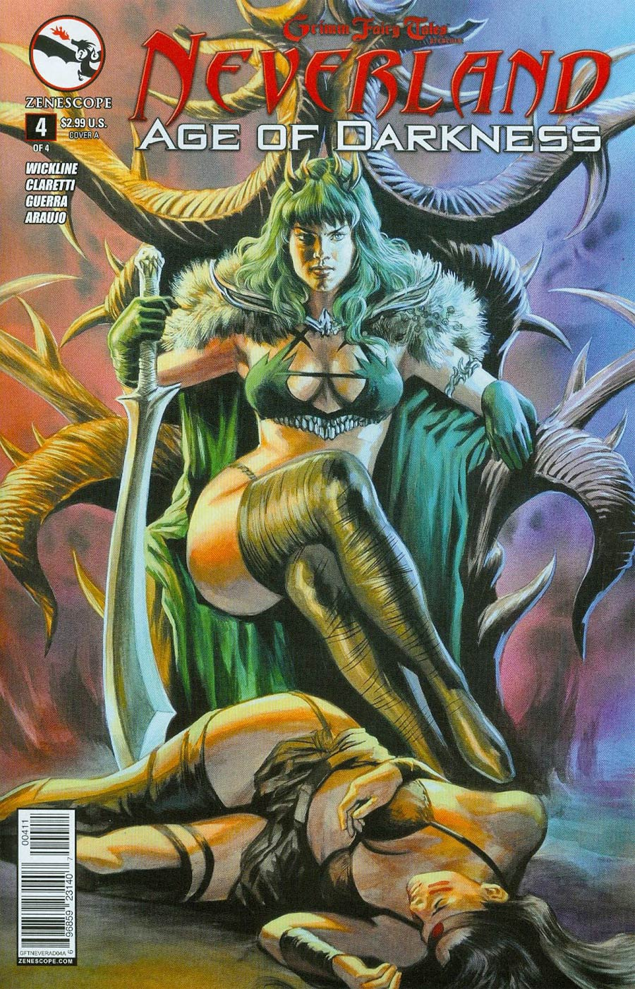 Grimm Fairy Tales Presents Neverland Age Of Darkness #4 Cover A Felipe Massafera