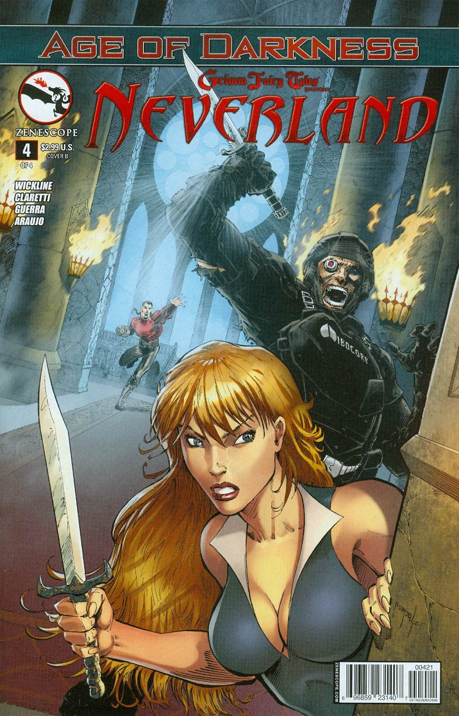 Grimm Fairy Tales Presents Neverland Age Of Darkness #4 Cover B Jason Metcalf