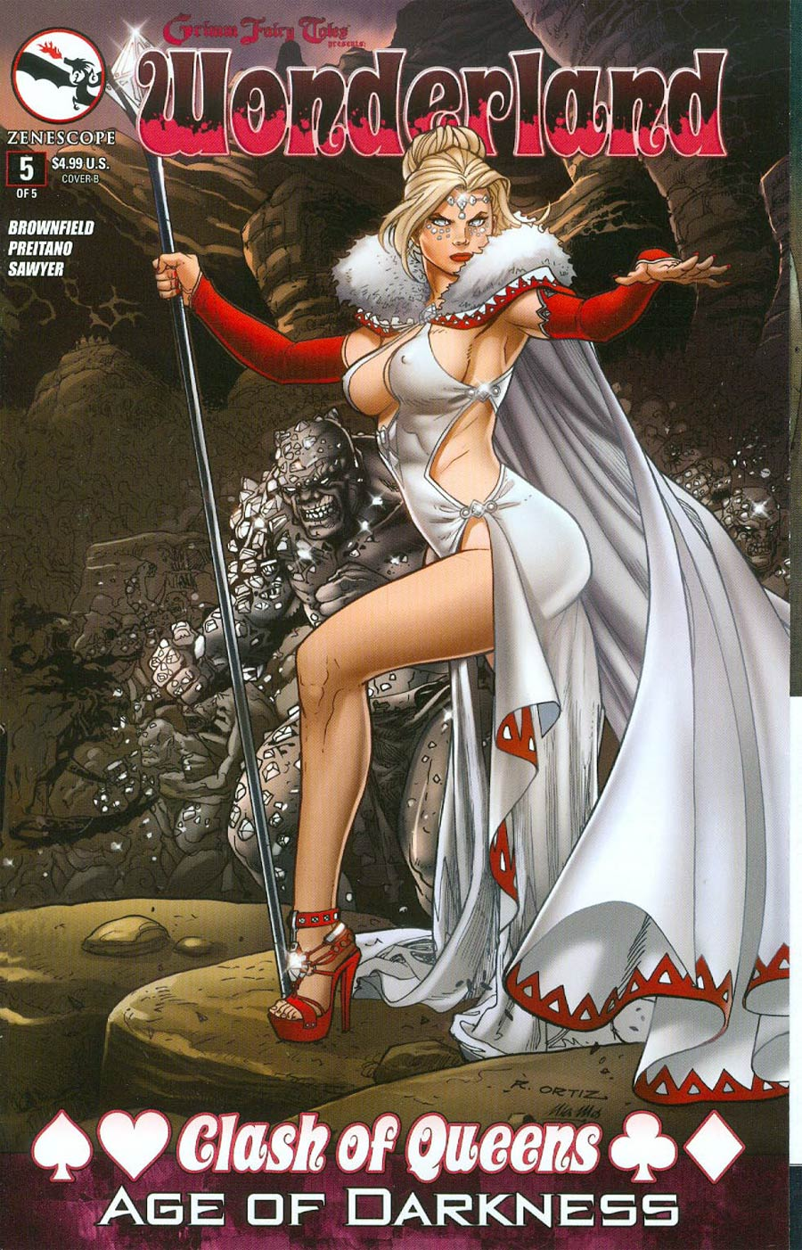 Grimm Fairy Tales Presents Wonderland Clash Of Queens #5 Cover D Richard Ortiz Gatefold (Age Of Darkness Tie-In) (Cover Misprinted As Cover B)