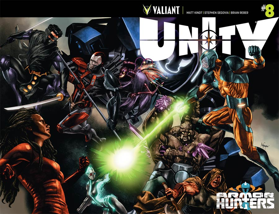 Unity Vol 2 #8 Cover A 1st Ptg Regular Mico Suayan Cover (Armor Hunters Tie-In)