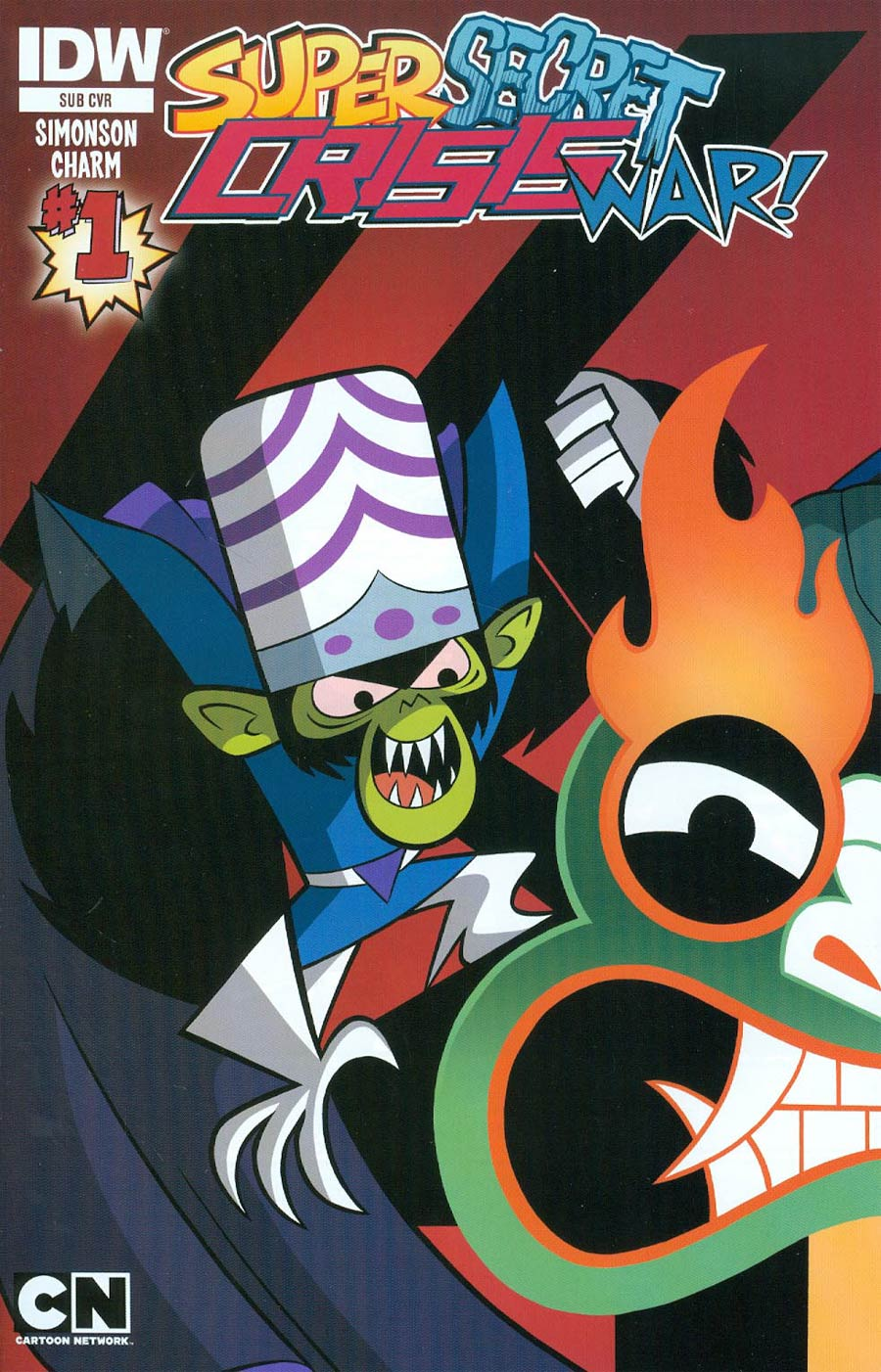 Cartoon Network Super Secret Crisis War #1 Cover C Variant Troy Little Subscription Cover