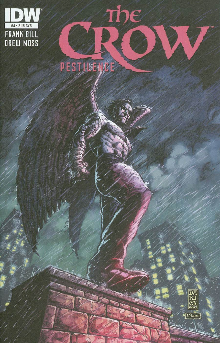 Crow Pestilence #4 Cover B Variant Darick Robertson Subscription Cover
