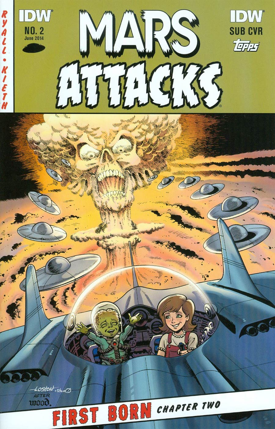 Mars Attacks First Born #2 Cover B Variant Loston Wallace Subscription Cover