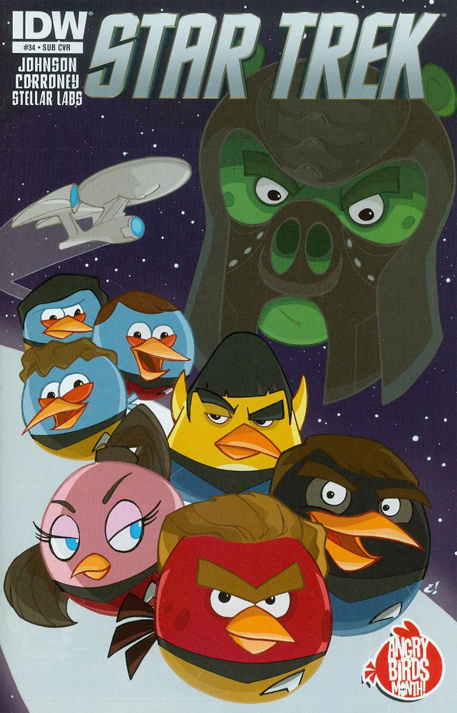 Star Trek (IDW) #34 Cover B Variant Craig Rousseau Angry Birds Subscription Cover