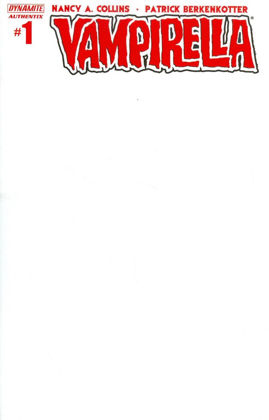 Vampirella Vol 5 #1 Cover F Variant Blank Authentix Cover