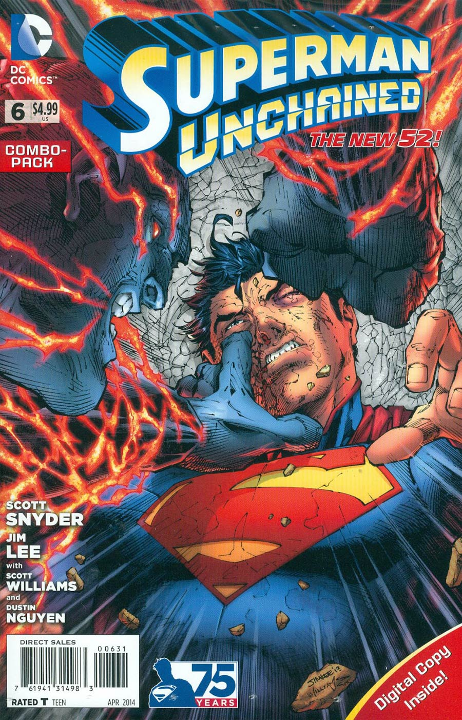Superman Unchained #6 Cover E Combo Pack Without Polybag