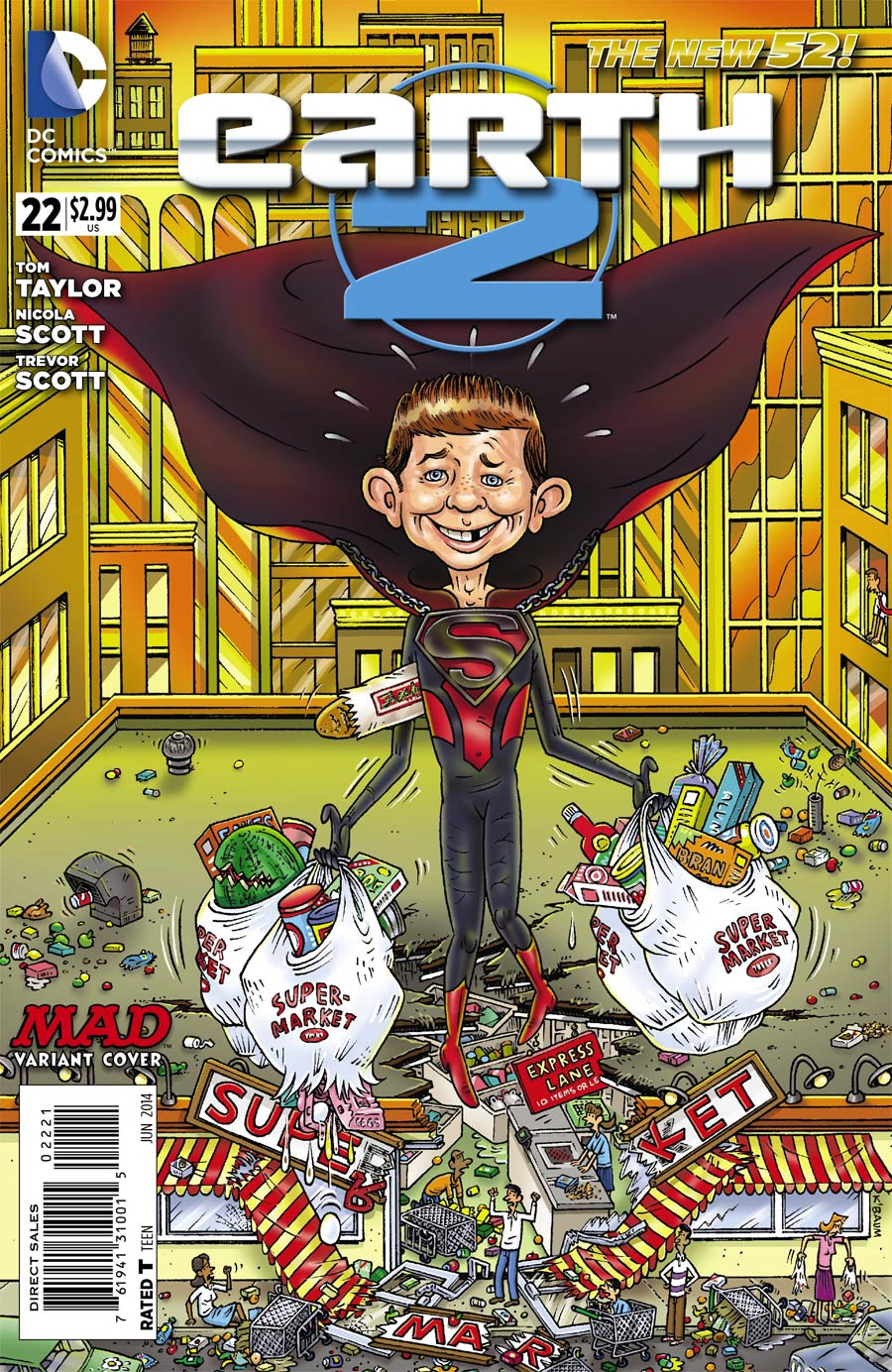 Earth 2 #22 Cover B Incentive MAD Variant Cover