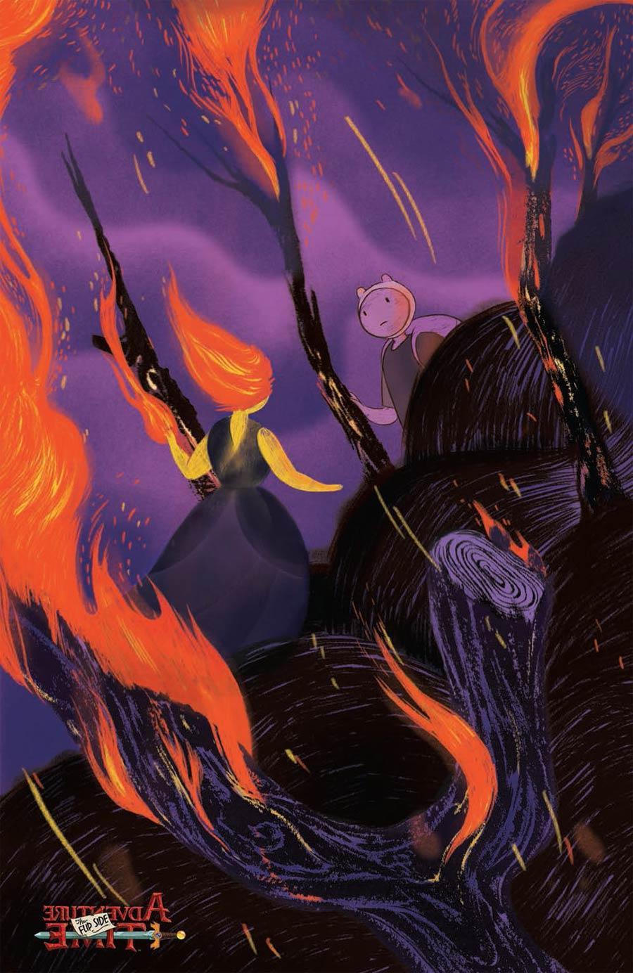 Adventure Time Flip Side #4 Cover C Incentive Rebekkah Dunlap Virgin Variant Cover