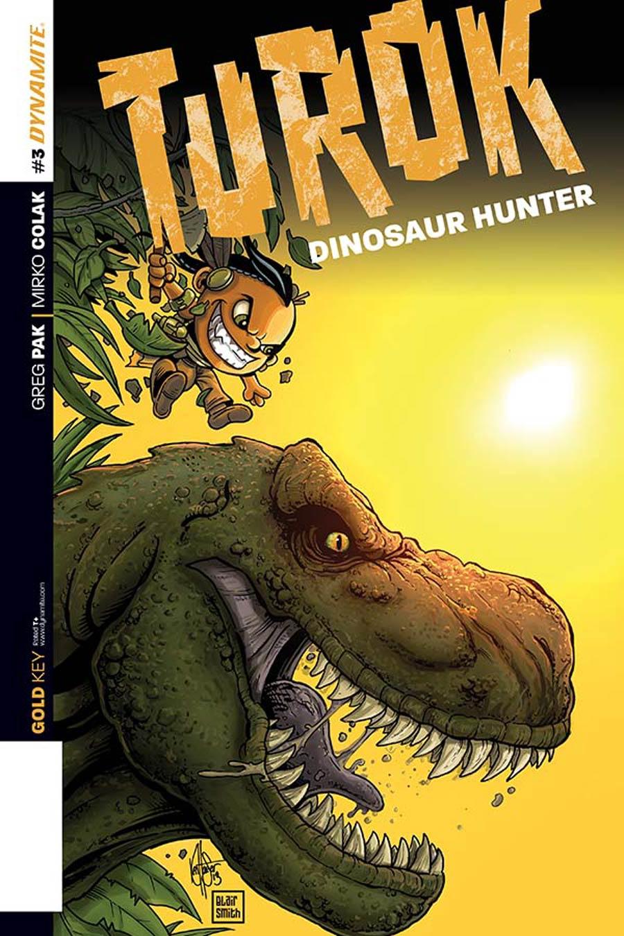 Turok Dinosaur Hunter Vol 2 #3 Cover E Incentive Ken Haeser Lil Turok Variant Cover