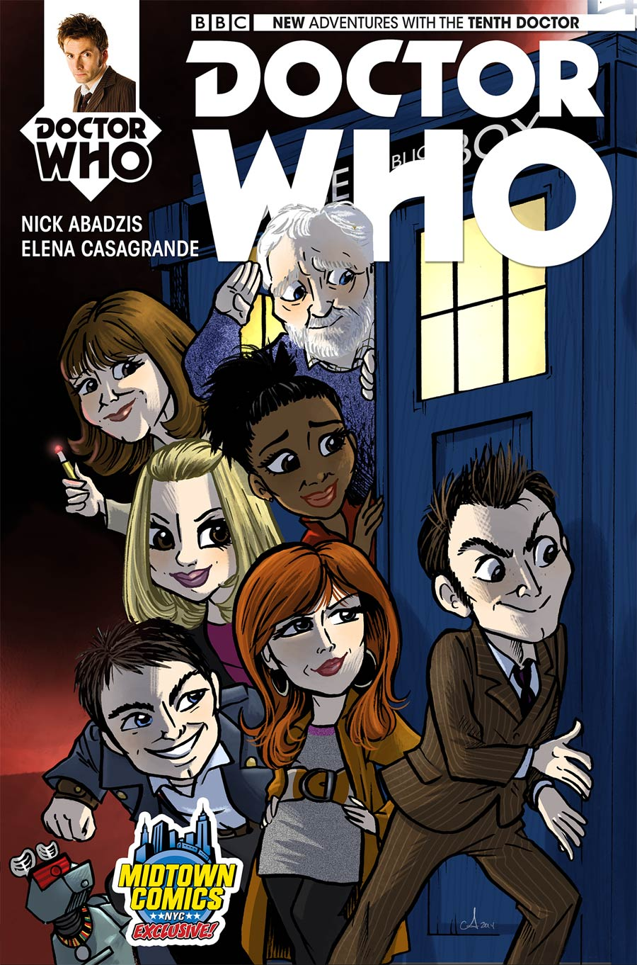 Doctor Who 10th Doctor #1 Cover C Midtown Exclusive Amy Mebberson Variant Cover (1 Of 2)