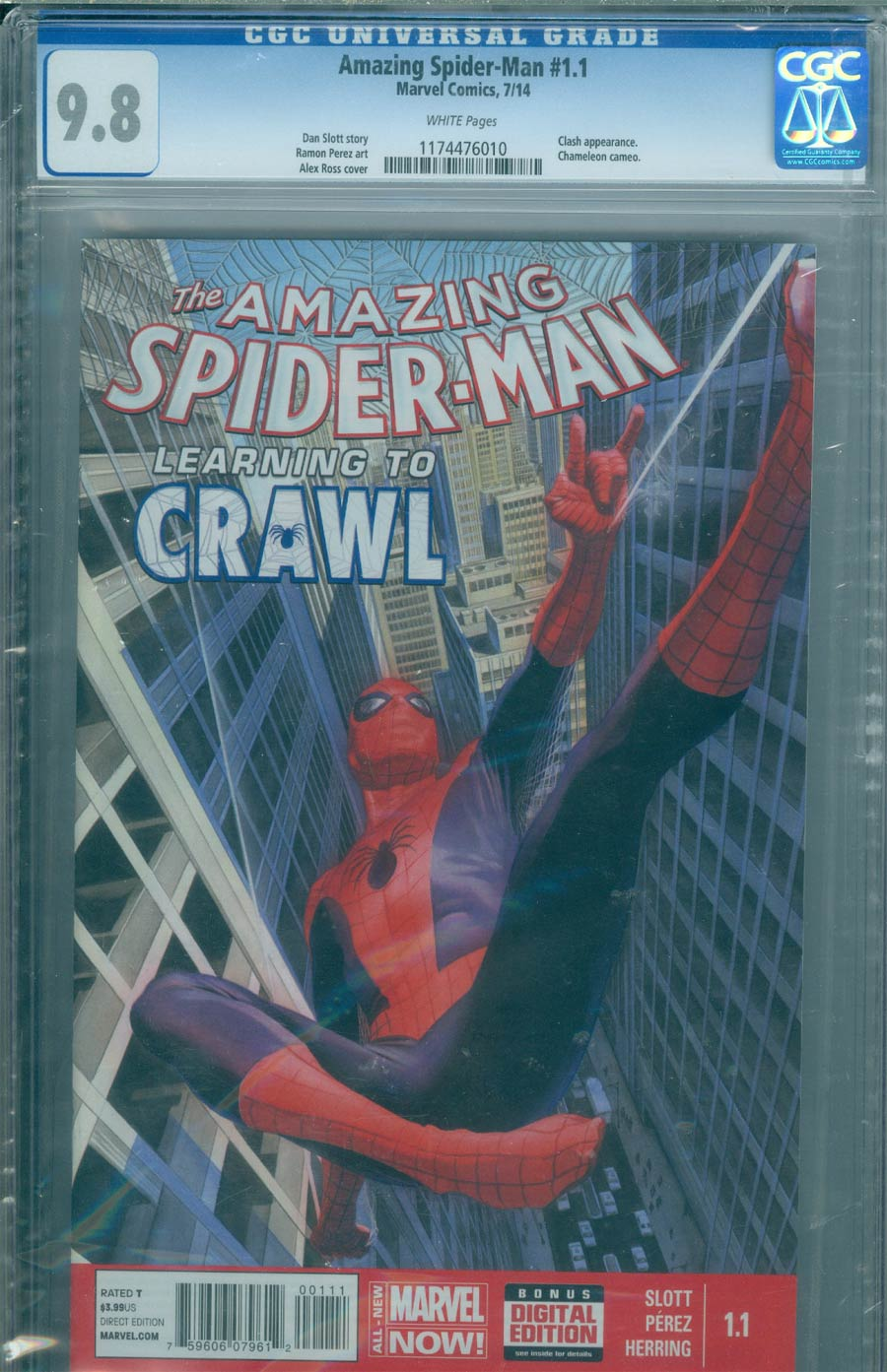 Amazing Spider-Man Vol 3 #1.1 Cover I DF CGC 9.8