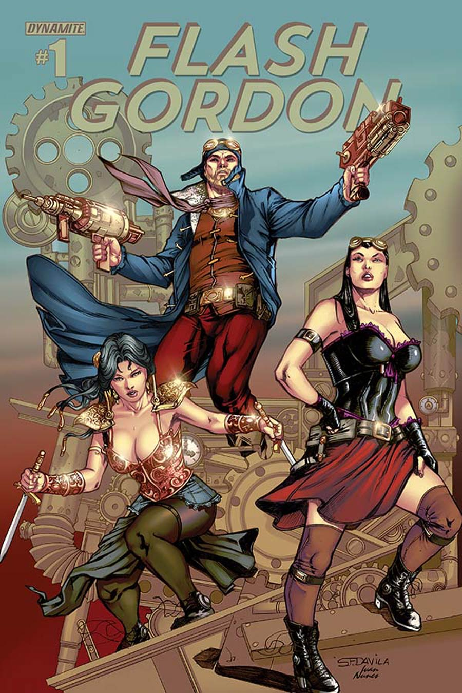 Flash Gordon Vol 7 #1 Cover I Variant Sergio Fernandez Davila Steampunk Color Variant Cover