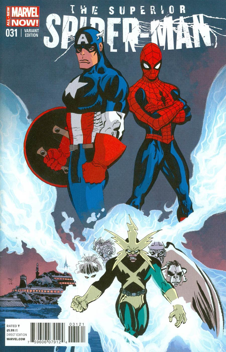 Superior Spider-Man #31 Cover F Incentive Captain America Team-Up Variant Cover