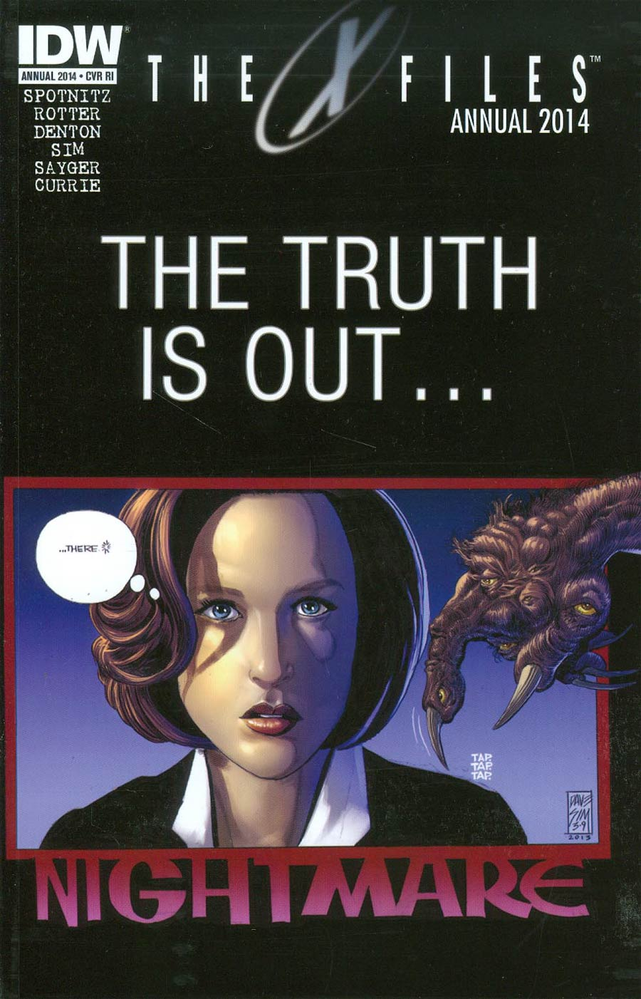 X-Files Season 10 Annual 2014 Cover B Incentive Dave Sim Variant Cover