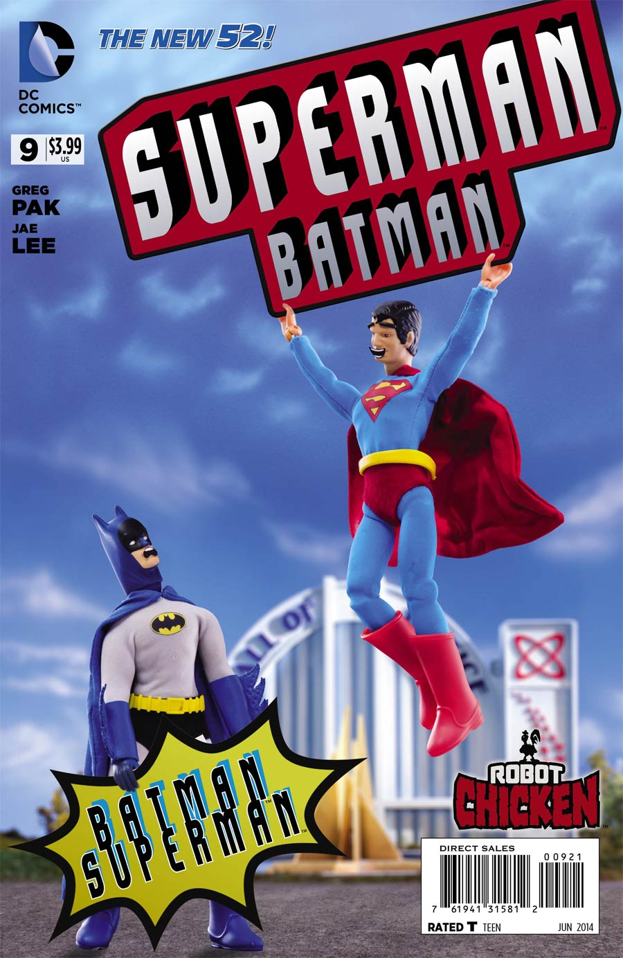Batman Superman #9 Cover D Incentive Robot Chicken Variant Cover (First Contact Part 3)
