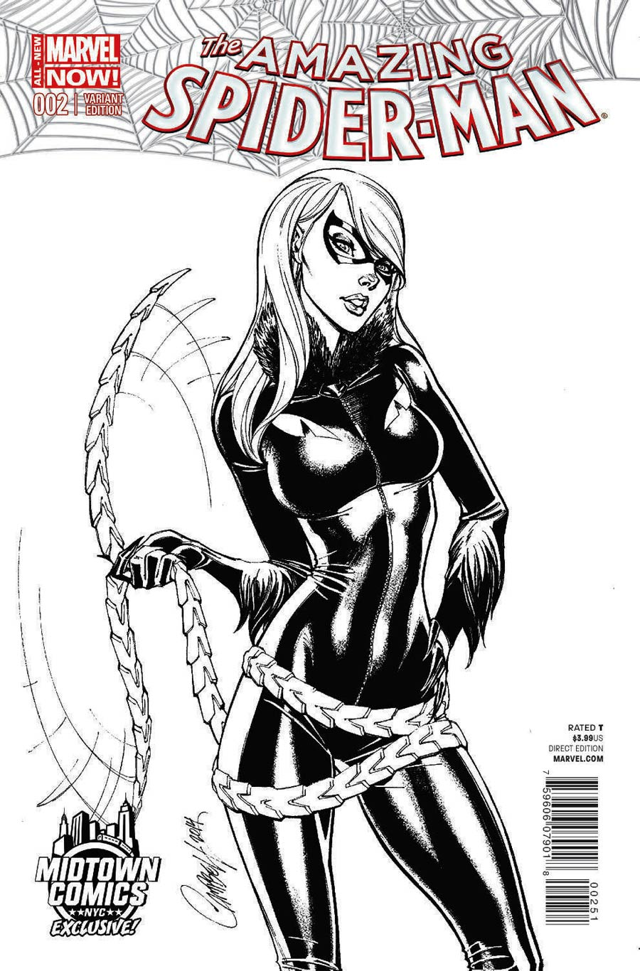 Amazing Spider-Man Vol 3 #2 Cover C Midtown Exclusive J Scott Campbell Sketch Variant Cover
