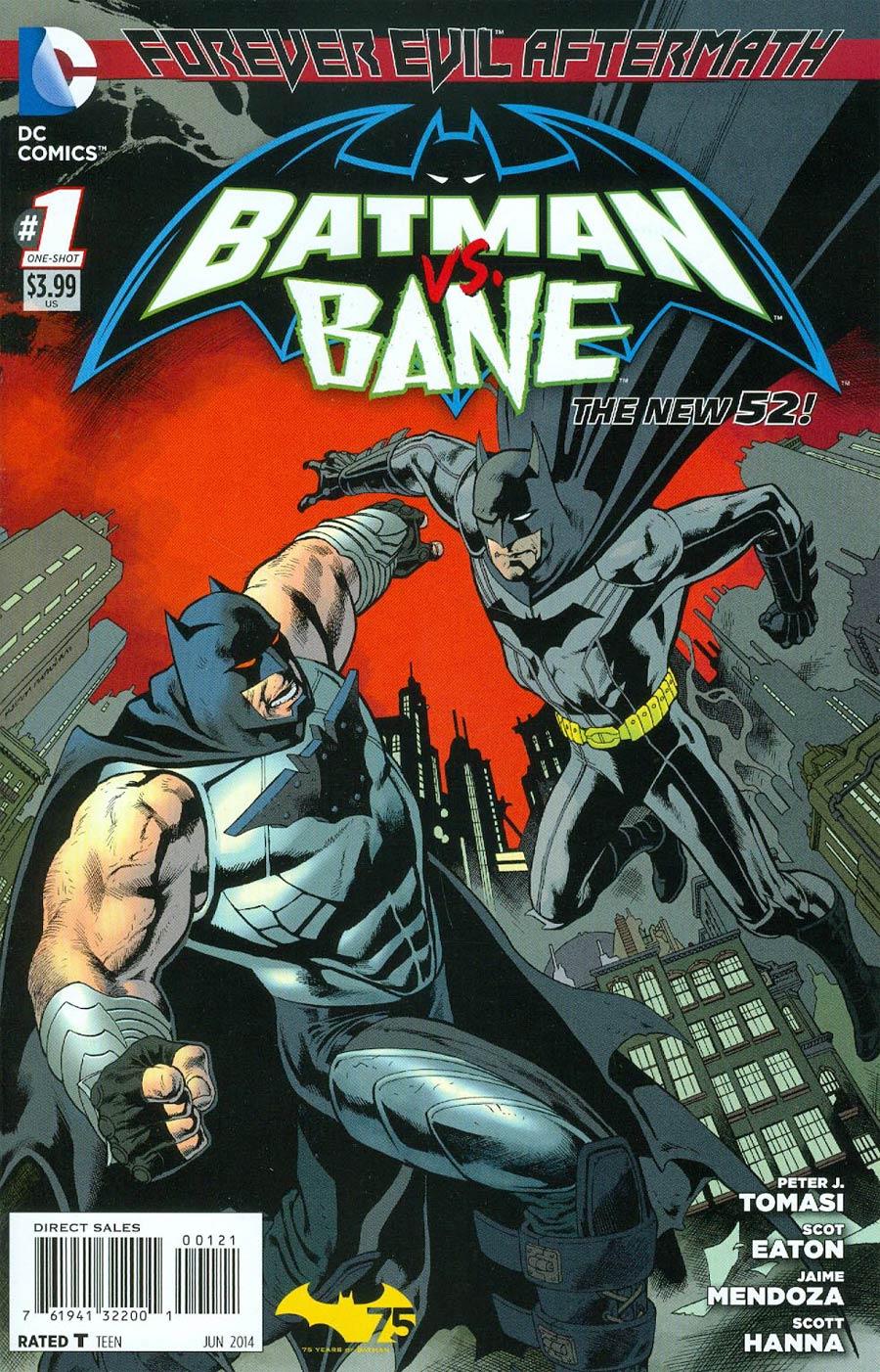 Forever Evil Aftermath Batman vs Bane #1 Cover B Incentive Kevin Nowlan Variant Cover