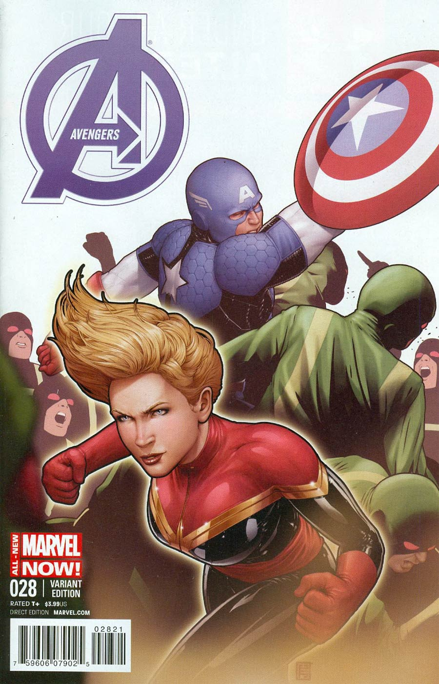 Avengers Vol 5 #28 Cover B Incentive Captain America Team-Up Variant Cover