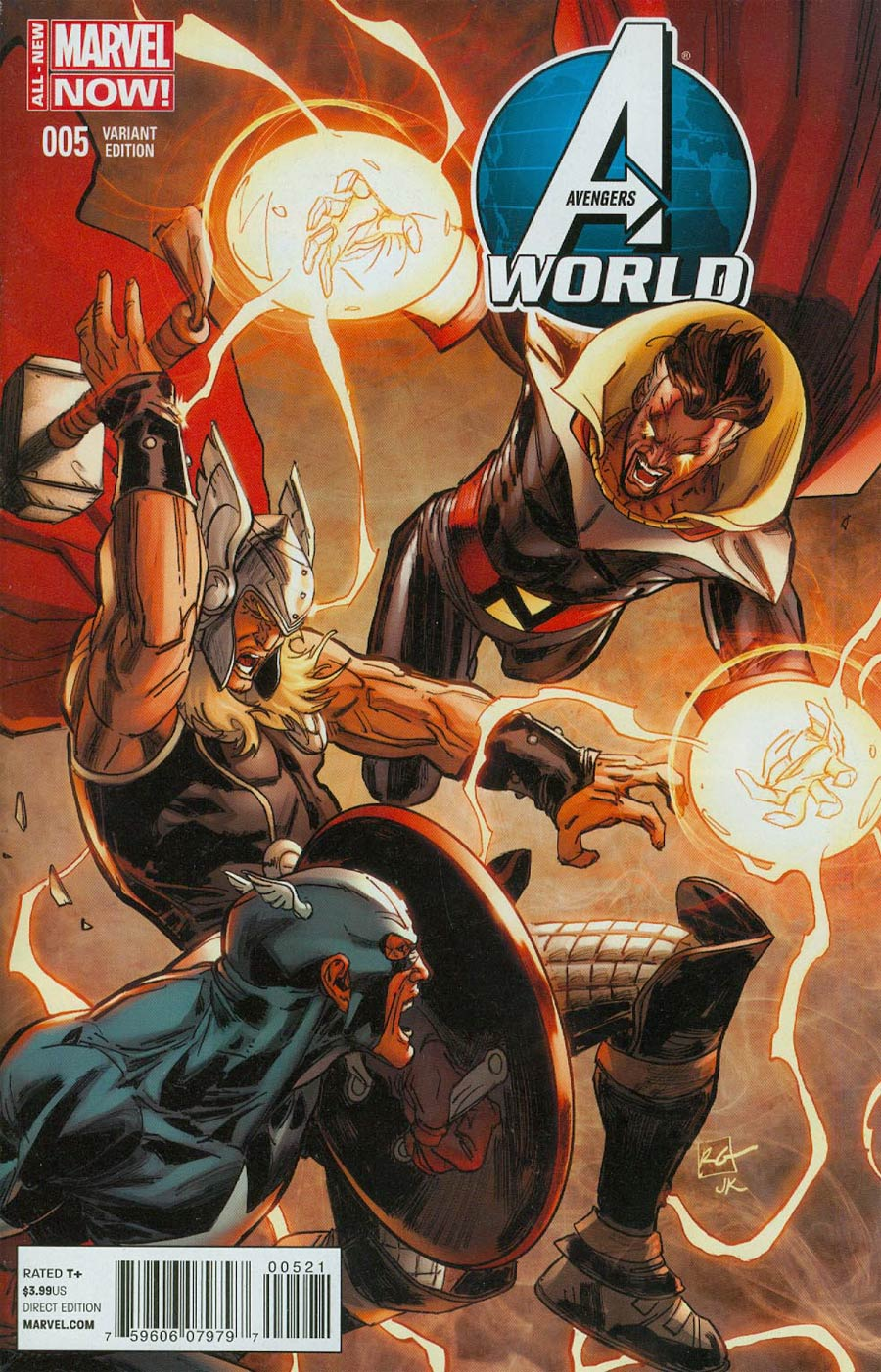 Avengers World #5 Cover B Incentive Captain America Team-Up Variant Cover