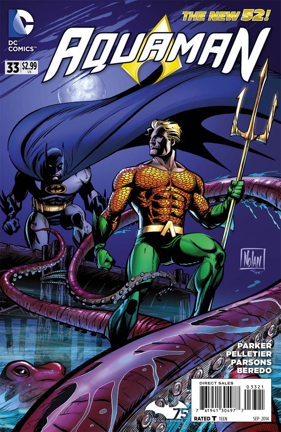 Aquaman Vol 5 #33 Cover B Variant Graham Nolan Batman 75th Anniversary Cover