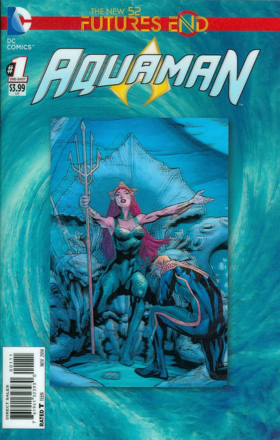 Aquaman Futures End #1 Cover A 3D Motion Cover