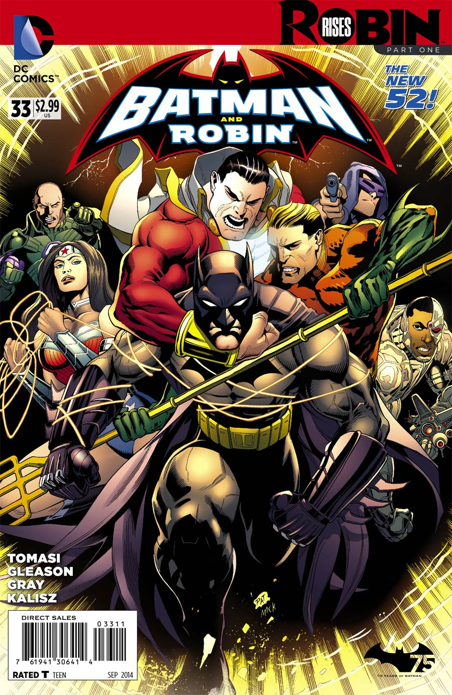 Batman And Robin Vol 2 #33 Cover A Regular Patrick Gleason Cover (Robin Rises Tie-In)