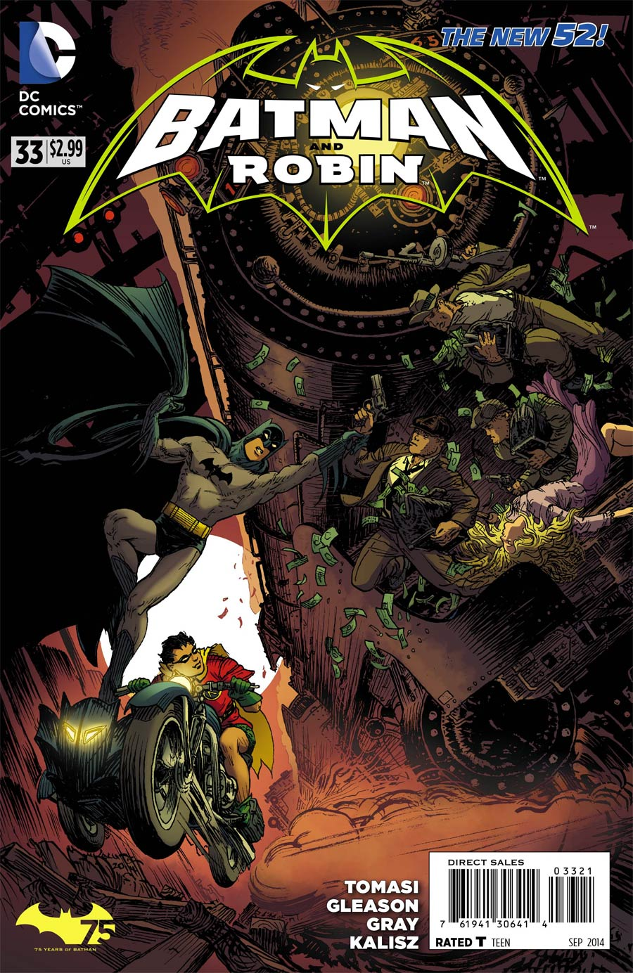 Batman And Robin Vol 2 #33 Cover B Variant Michael William Kaluta Batman 75th Anniversary Cover (Robin Rises Tie-In)
