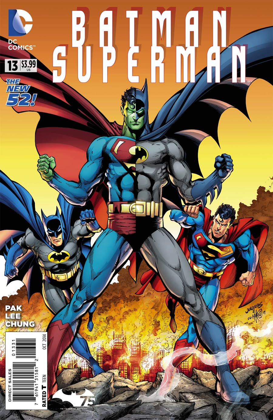 Batman Superman #13 Cover B Variant Dan Jurgens Batman 75th Anniversary Cover