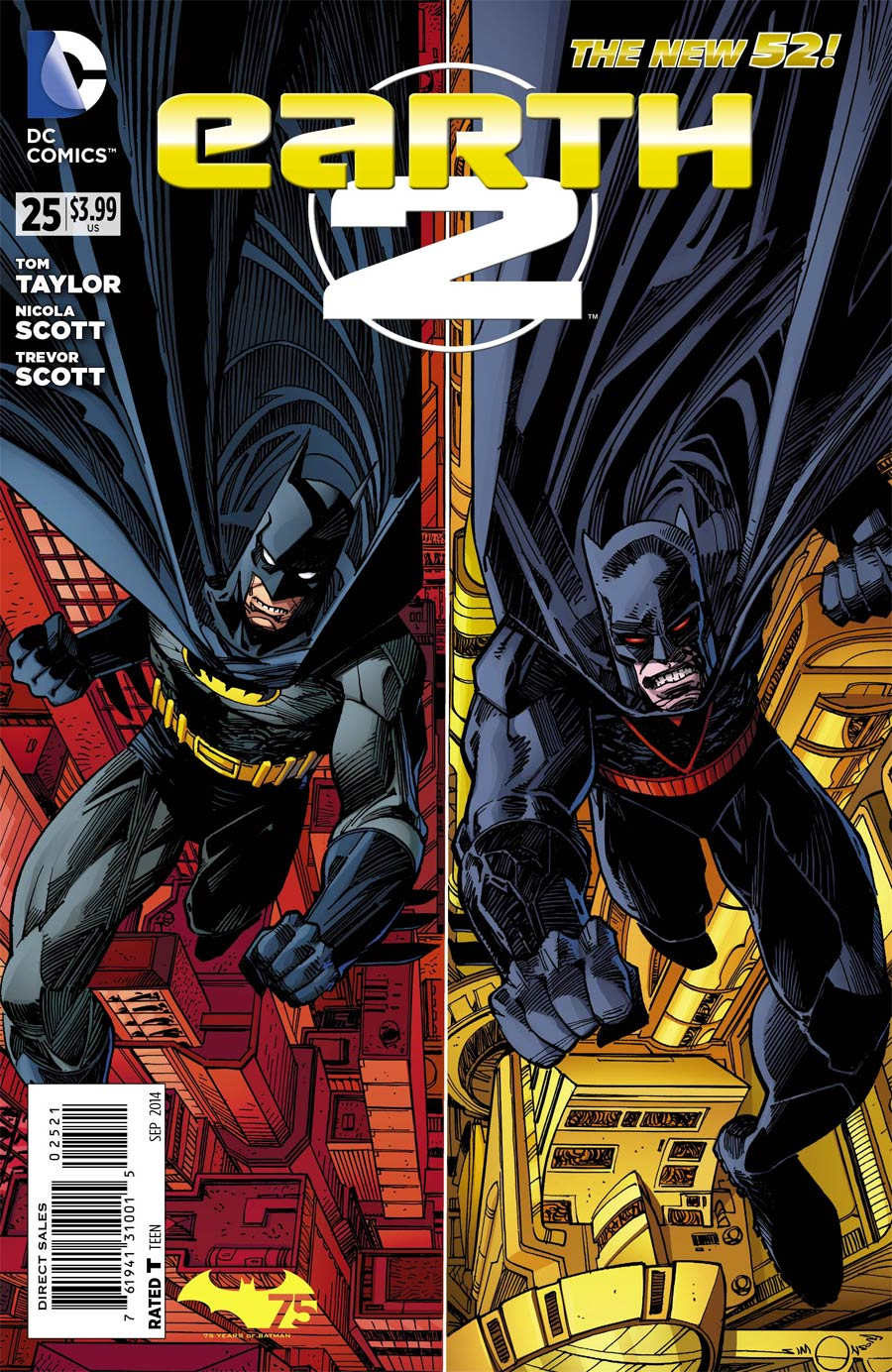Earth 2 #25 Cover B Variant Walter Simonson Batman 75th Anniversary Cover