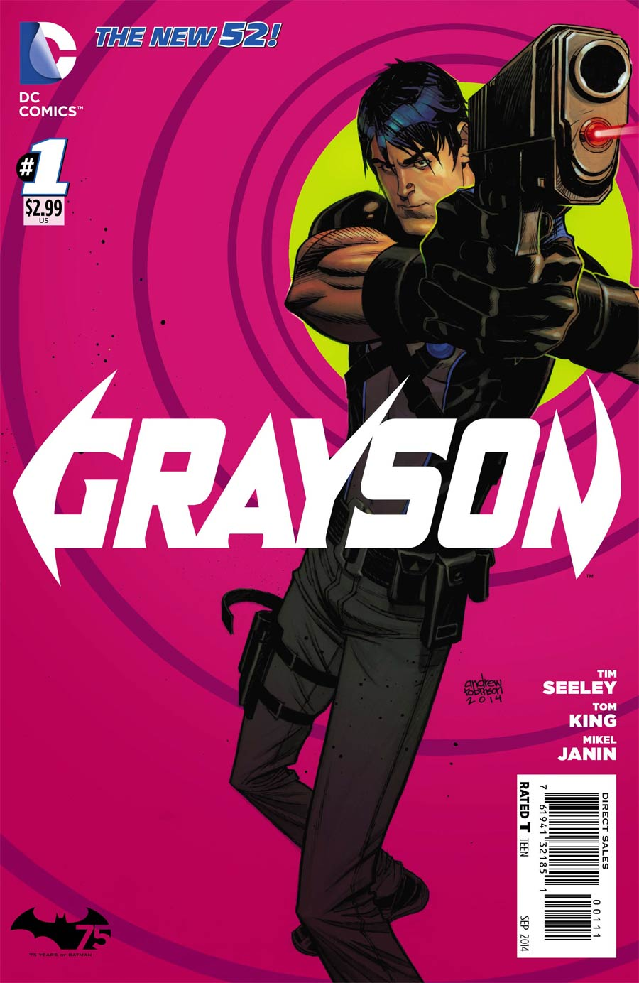Grayson #1 Cover A 1st Ptg Regular Andrew Robinson Cover