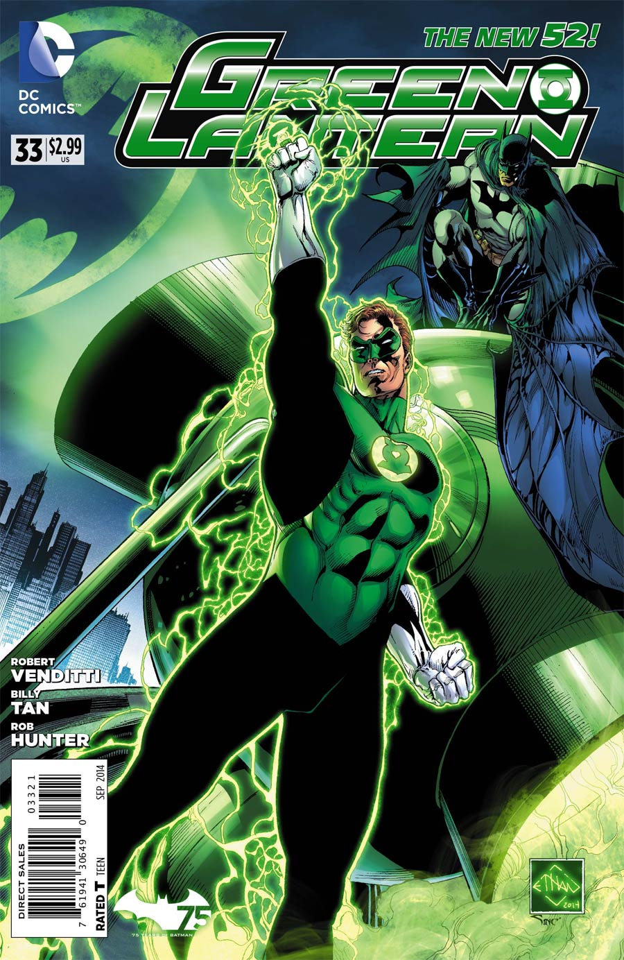 Green Lantern Vol 5 #33 Cover B Variant Ethan Van Sciver Batman 75th Anniversary Cover (Uprising Part 5)