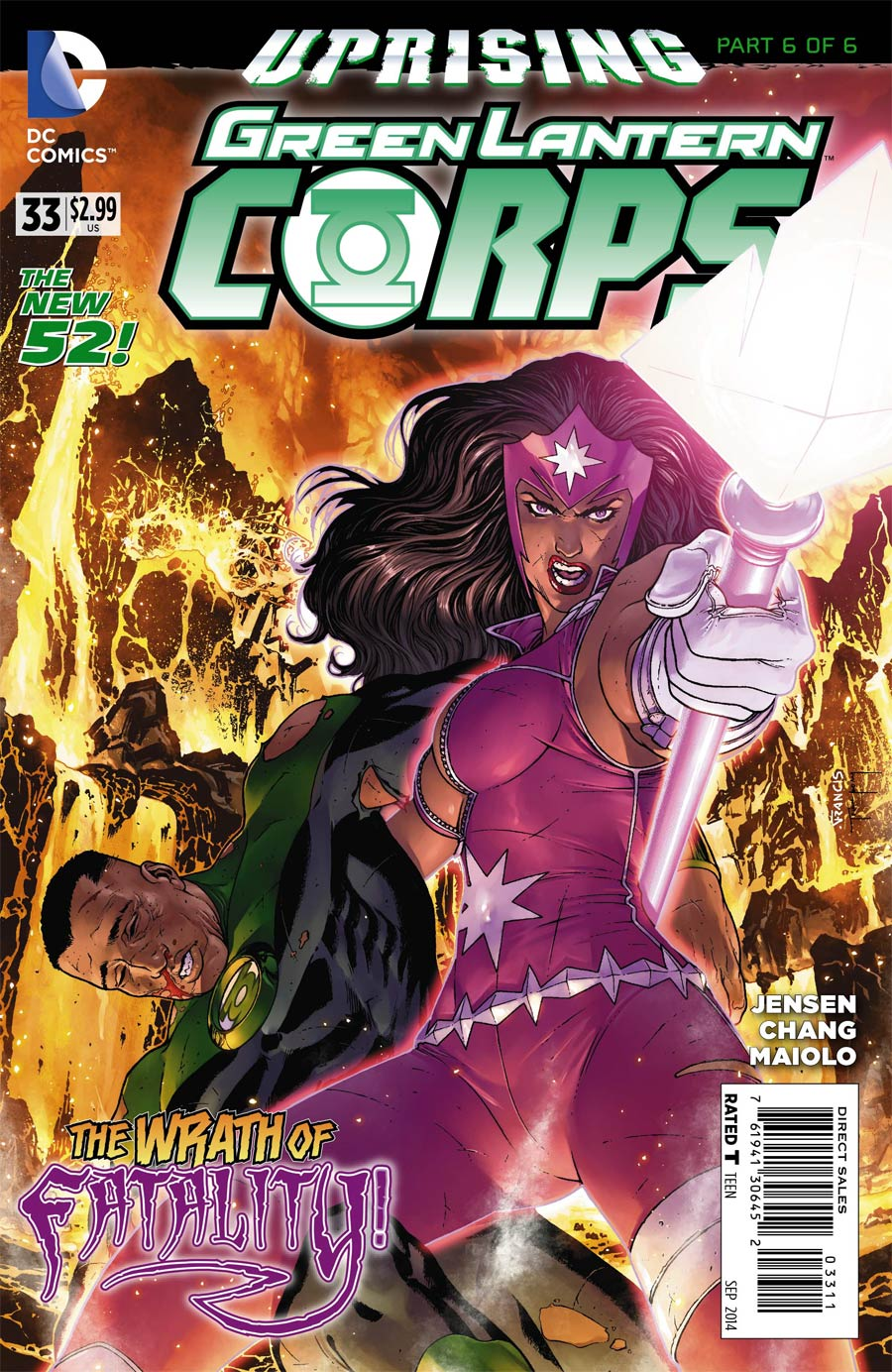 Green Lantern Corps Vol 3 #33 Cover A Regular Francis Portela Cover (Uprising Part 6)