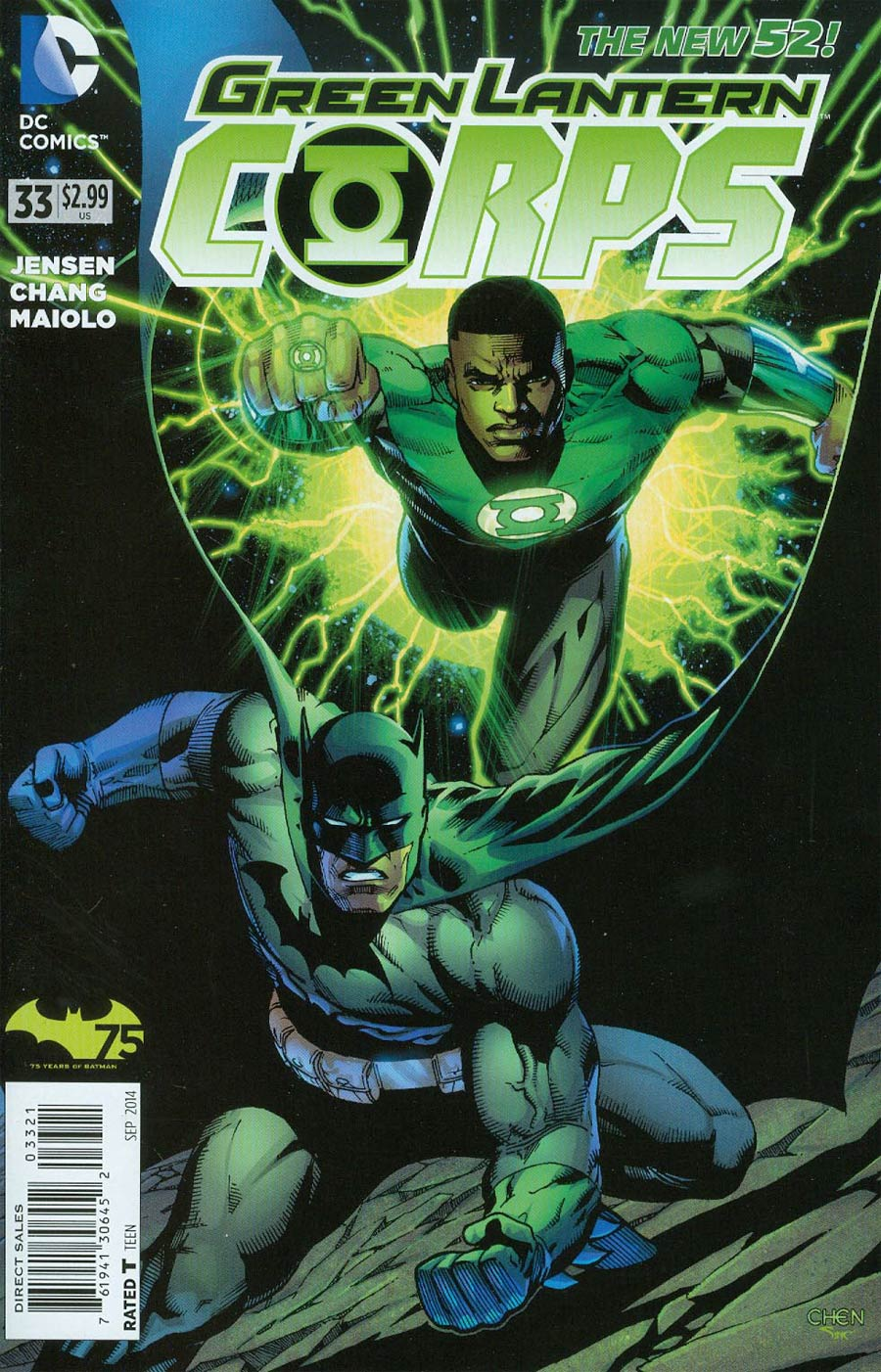 Green Lantern Corps Vol 3 #33 Cover B Variant Sean Chen Batman 75th Anniversary Cover (Uprising Part 6)
