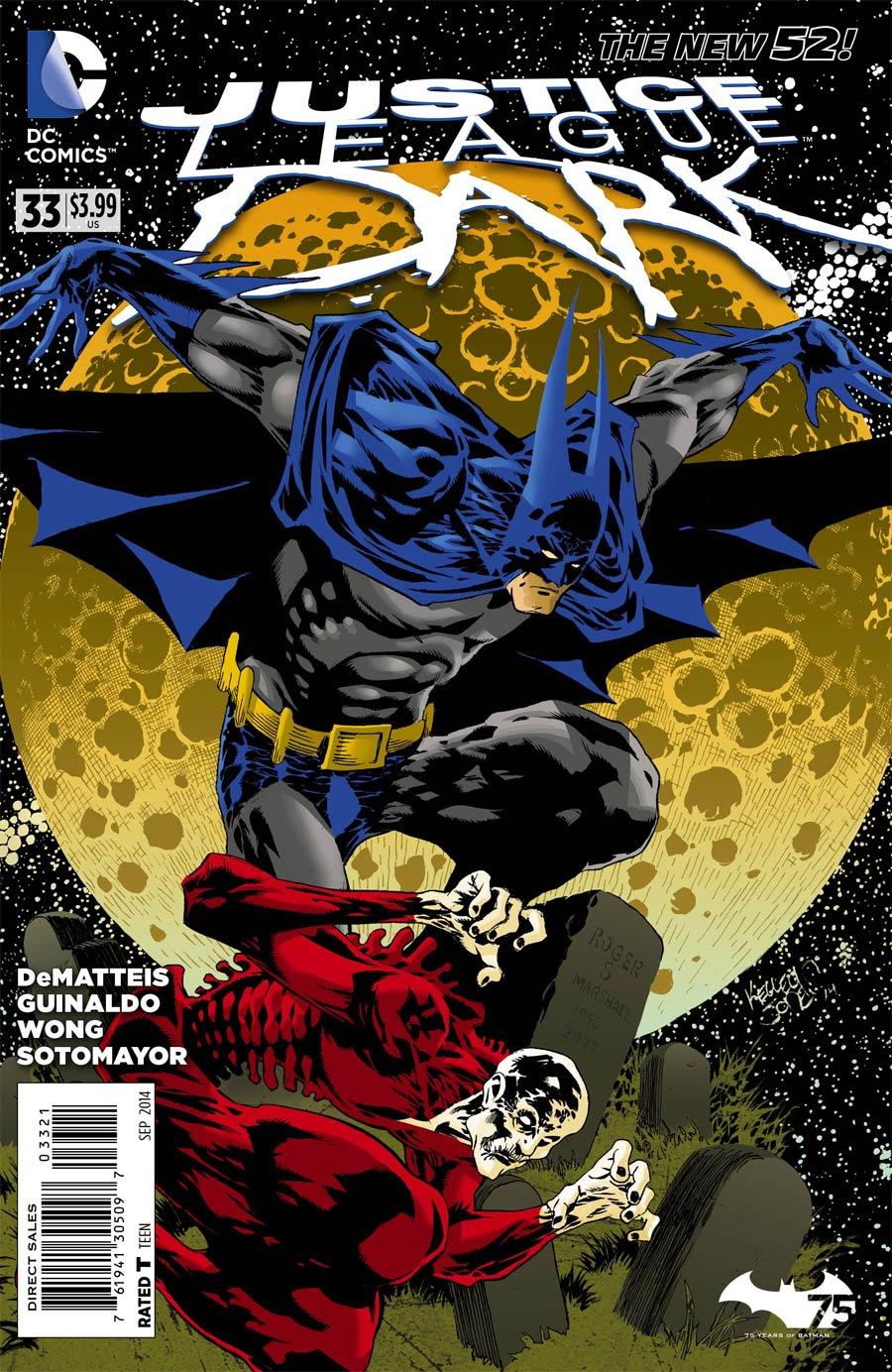 Justice League Dark #33 Cover B Variant Kelley Jones Batman 75th Anniversary Cover
