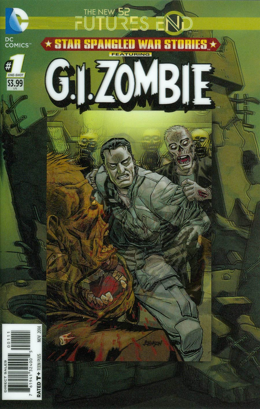 Star-Spangled War Stories Featuring GI Zombie Futures End #1 Cover A 3D Motion Cover