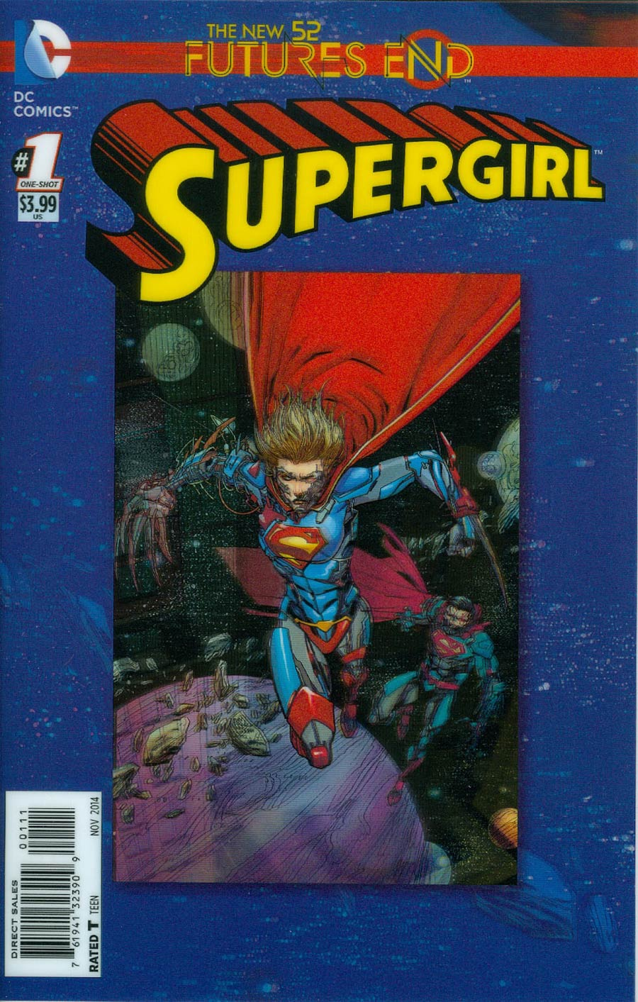 Supergirl Futures End #1 Cover A 3D Motion Cover