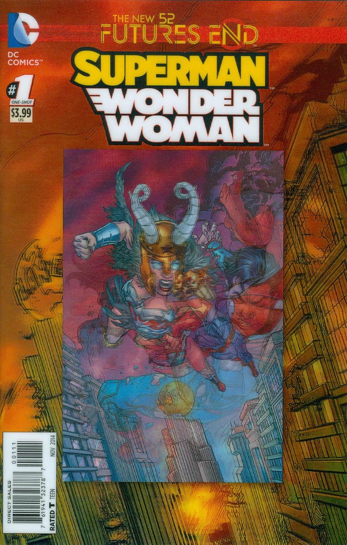 Superman Wonder Woman Futures End #1 Cover A 3D Motion Cover
