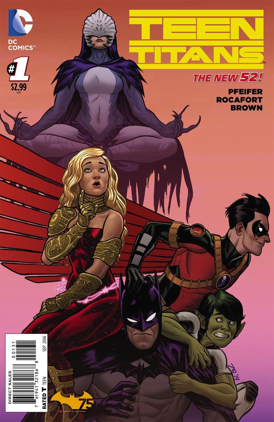 Teen Titans Vol 5 #1 Cover B Variant Joe Quinones Batman 75th Anniversary Cover