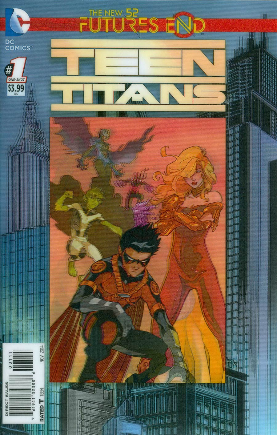 Teen Titans Futures End #1 Cover A 3D Motion Cover