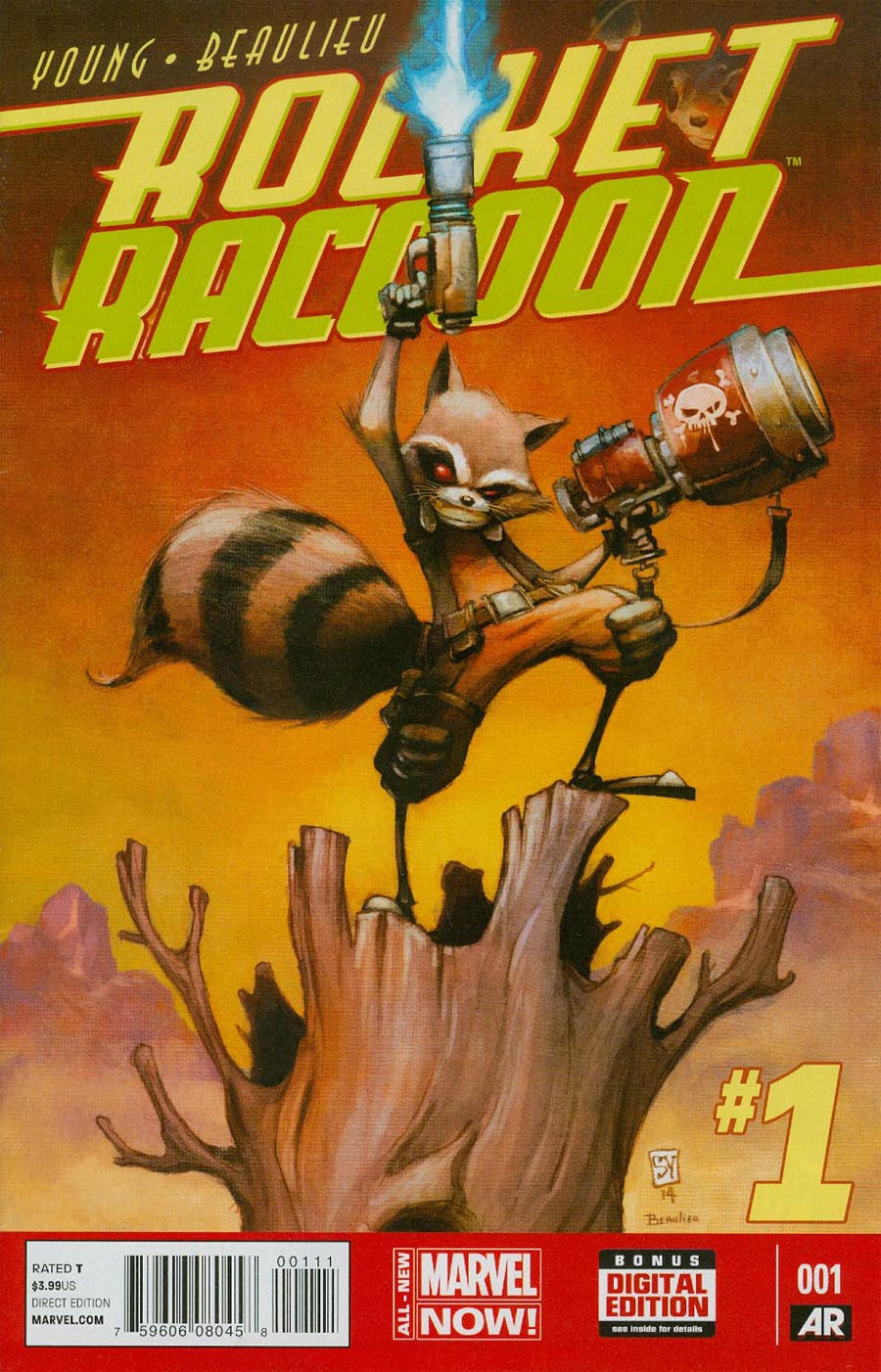 Rocket Raccoon Vol 2 #1 Cover A 1st Ptg Regular Skottie Young Cover