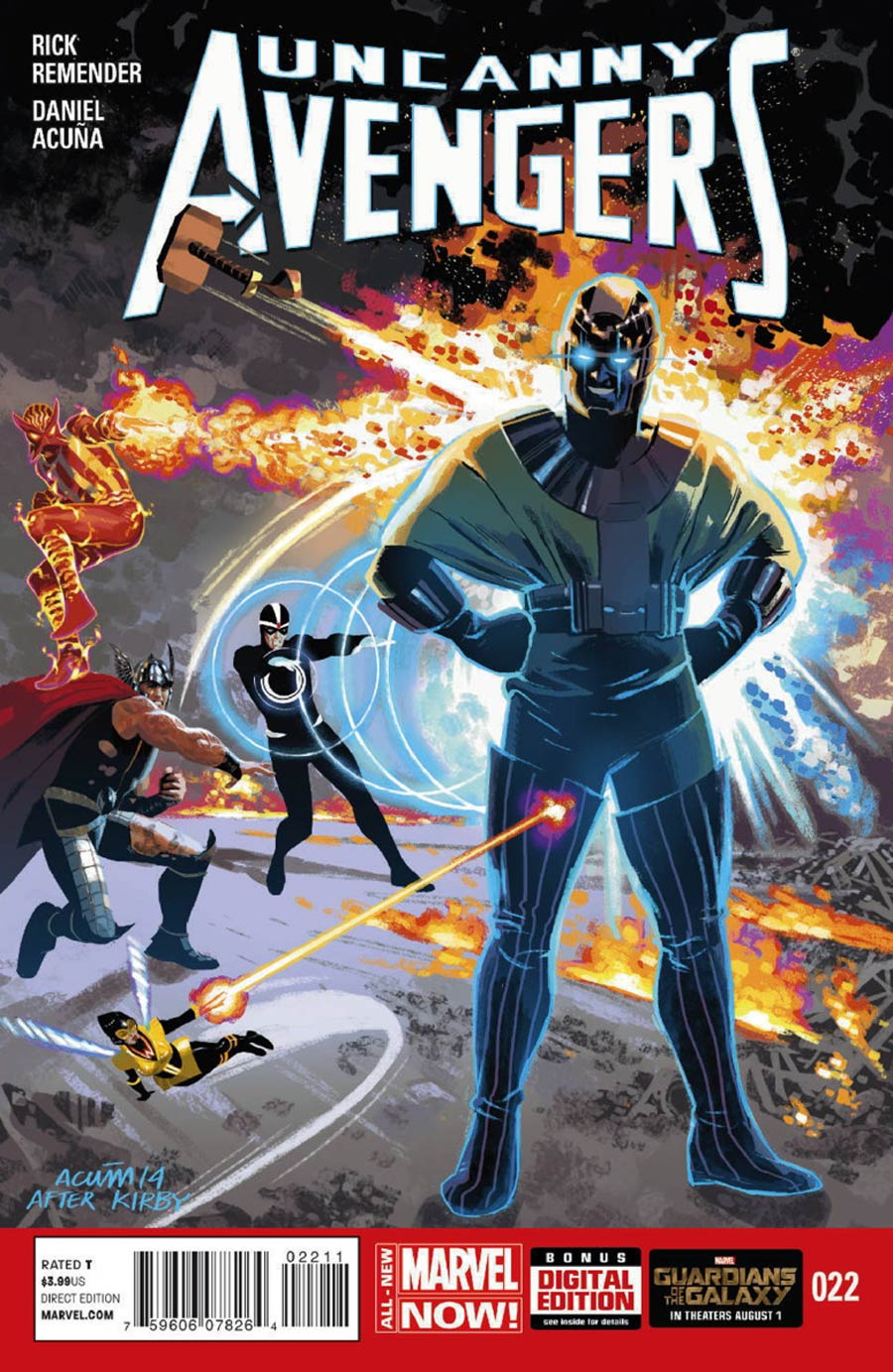 Uncanny Avengers #22 Cover A Regular Daniel Acuna Cover