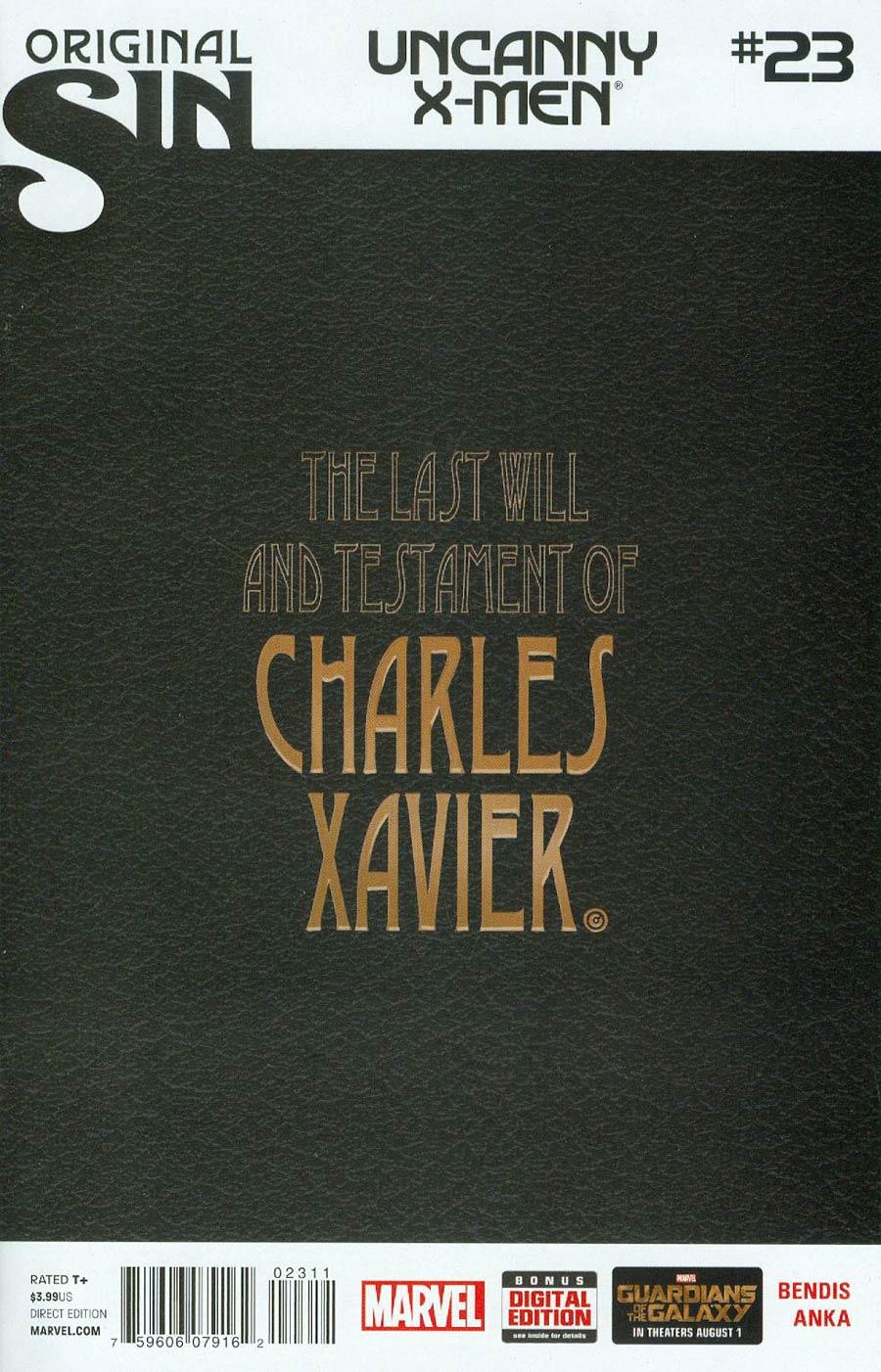 Uncanny X-Men Vol 3 #23 Cover A 1st Ptg Regular Chris Bachalo Cover (Original Sin Tie-In)