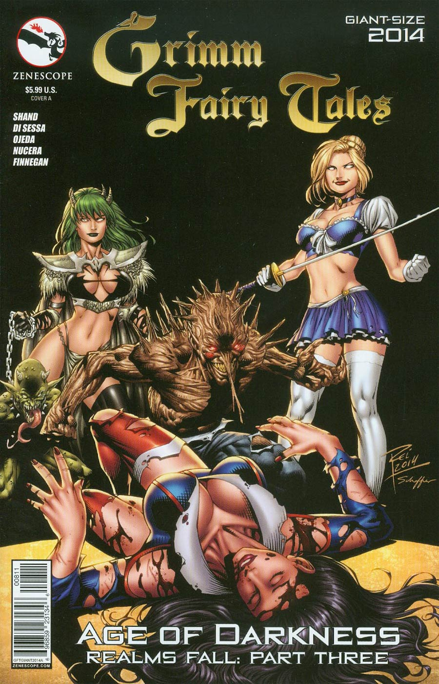 Grimm Fairy Tales Giant-Size 2014 Cover A Renato Rei (Age Of Darkness Tie-In)