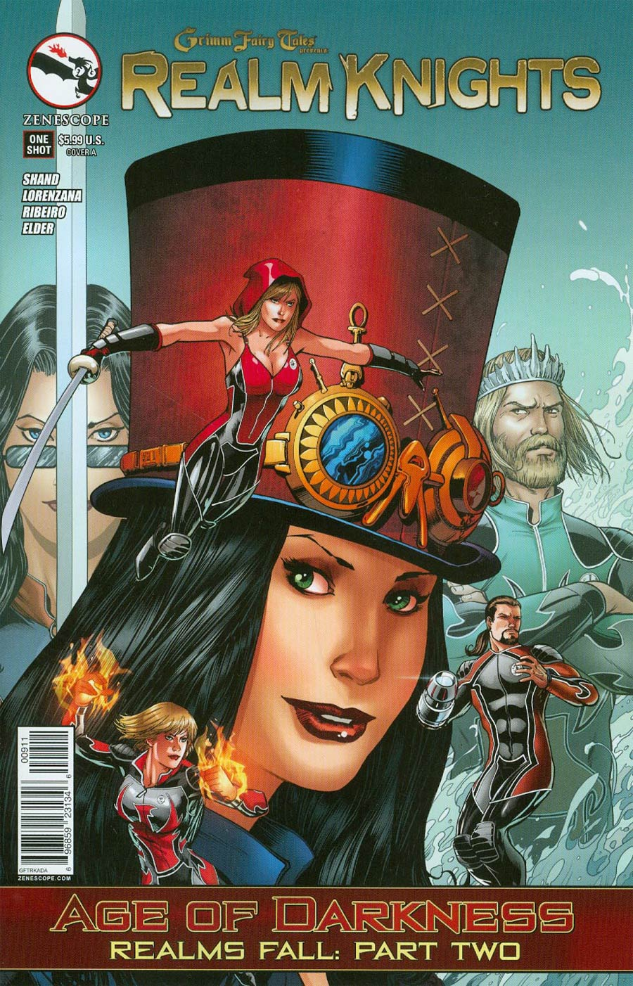 Grimm Fairy Tales Presents Realm Knights Age Of Darkness One Shot Cover A Barry Kitson