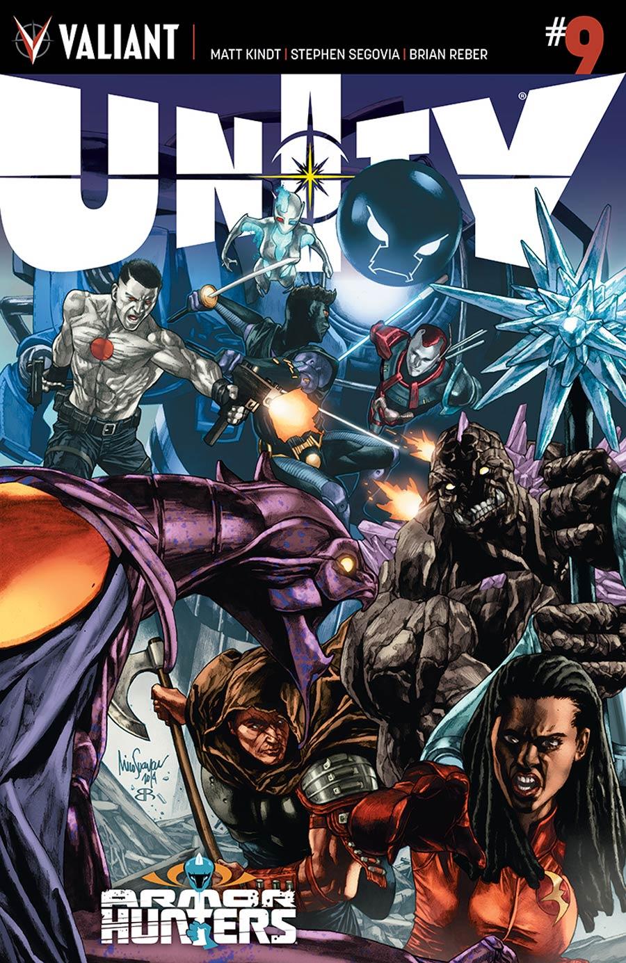 Unity Vol 2 #9 Cover A Regular Mico Suayan Cover (Armor Hunters Tie-In)